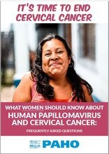 Cover of the cover of the booklet for women on cervical cancer and HPV