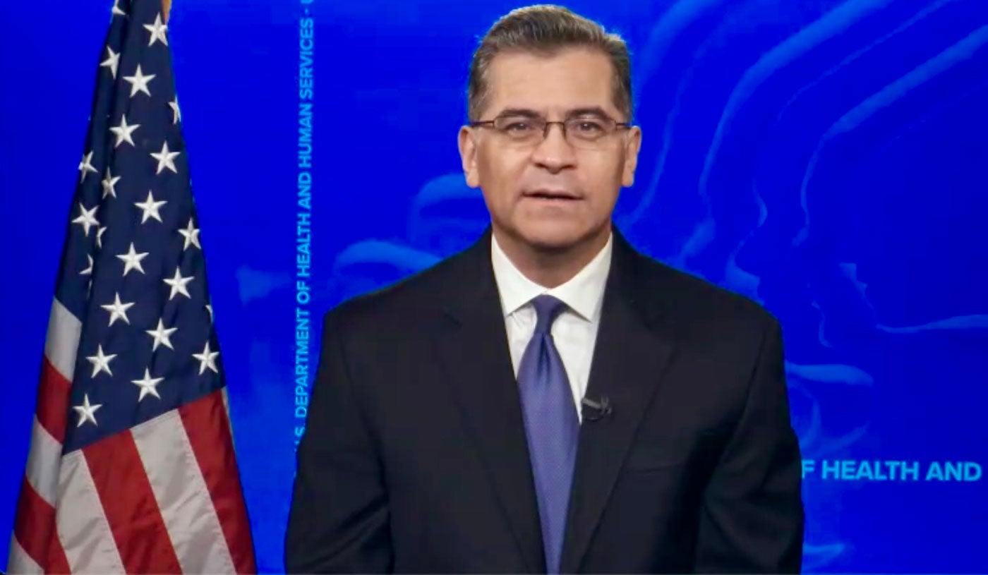 Secretario de Salud y Servicios Humanos de Estados Unidos, Xavier Becerra